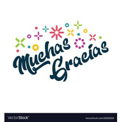 Endearing Thank You So Much Your Help Spanish Muchas Gracias Spanish Thank You Greeting Card Vector 20020209 Spanish Thank You