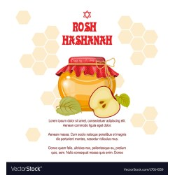 Marvellous Rosh Hashanah Jewish New Year Greeting Card Vector 17014559 Rosh Hashanah Cards 2015 Rosh Hashanah Cards Templates Free