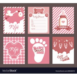 Small Crop Of Girl Baby Shower Invitations
