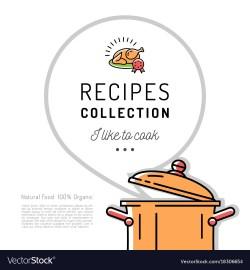Great Recipe Book Menu Template Cookbook Cover Boiling Vector 18306654 Recipe Book Template Powerpoint Recipe Book Template Printable
