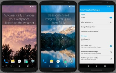 Automatically manage your wallpapers based on the weather