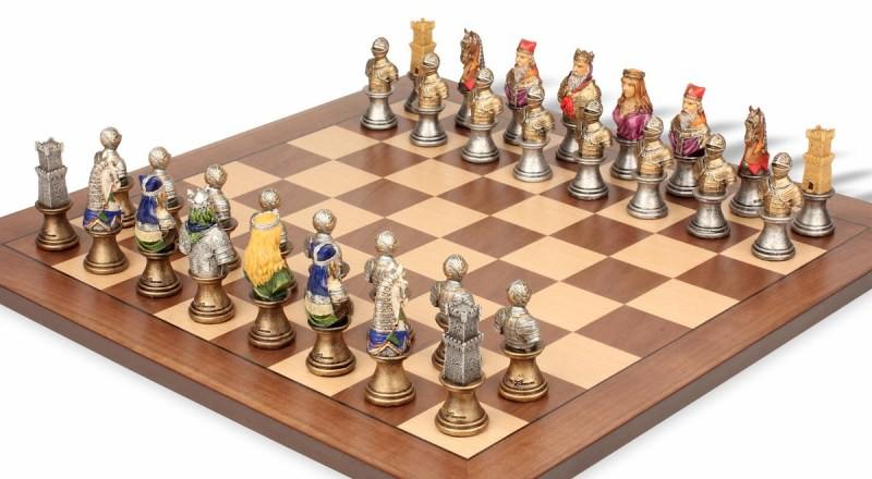 Large Of Medieval Chess Set