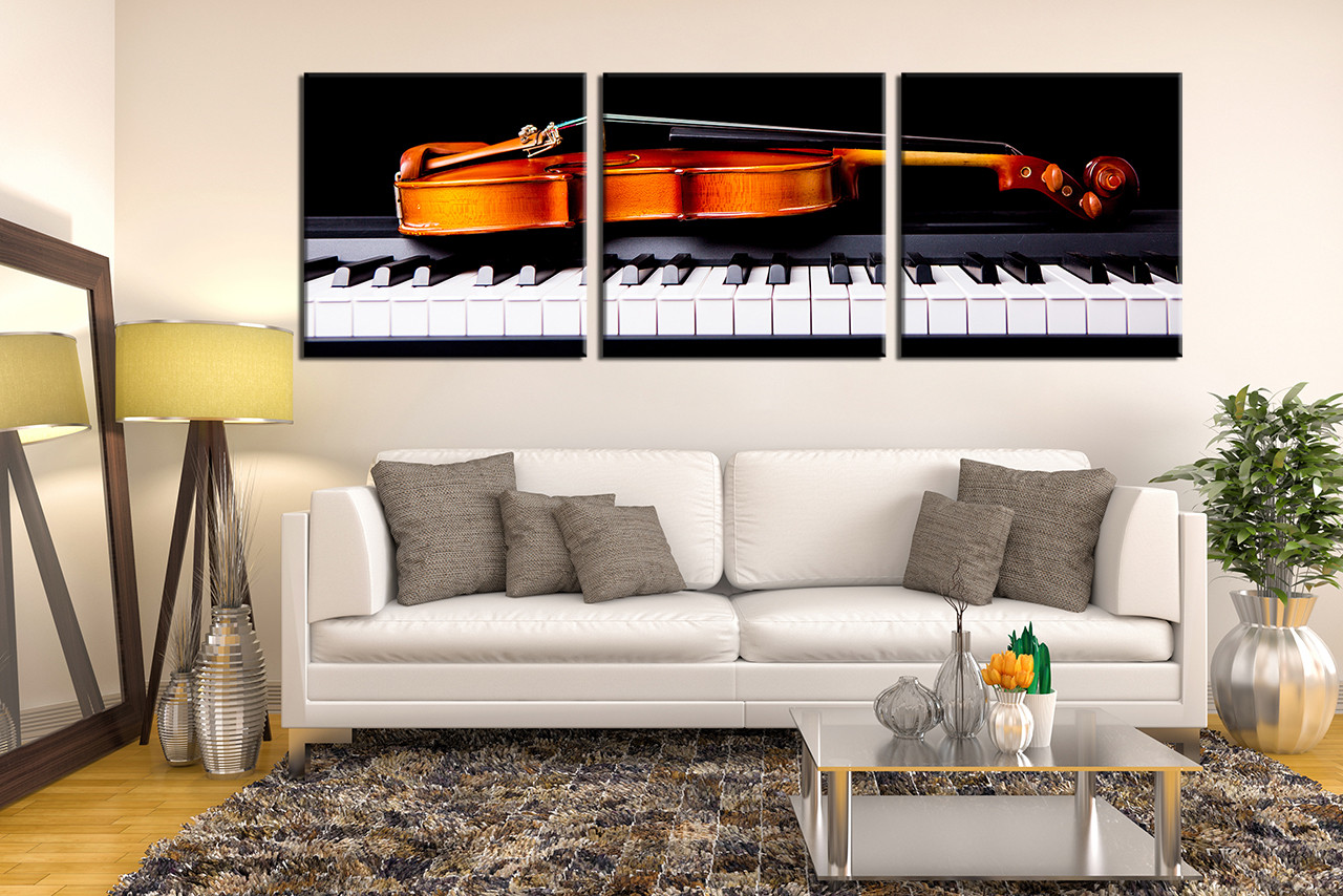 Masterly Sale 3 Piece Large Canvas Music Photo Canvas Violin Wall Decor Musical Instrument Canvas Print Music Multi Panel Canvas Black Piano Art 4 01489 Large Canvas Art Etsy Large Canvas Artwork houzz 01 Large Canvas Art