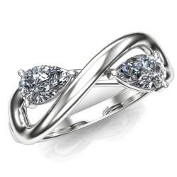 Perfect Two Stone Infinity Diamond Engagement Ring 14k G 96181 Two Stone Ring Recipe Two Stone Ring Diamond