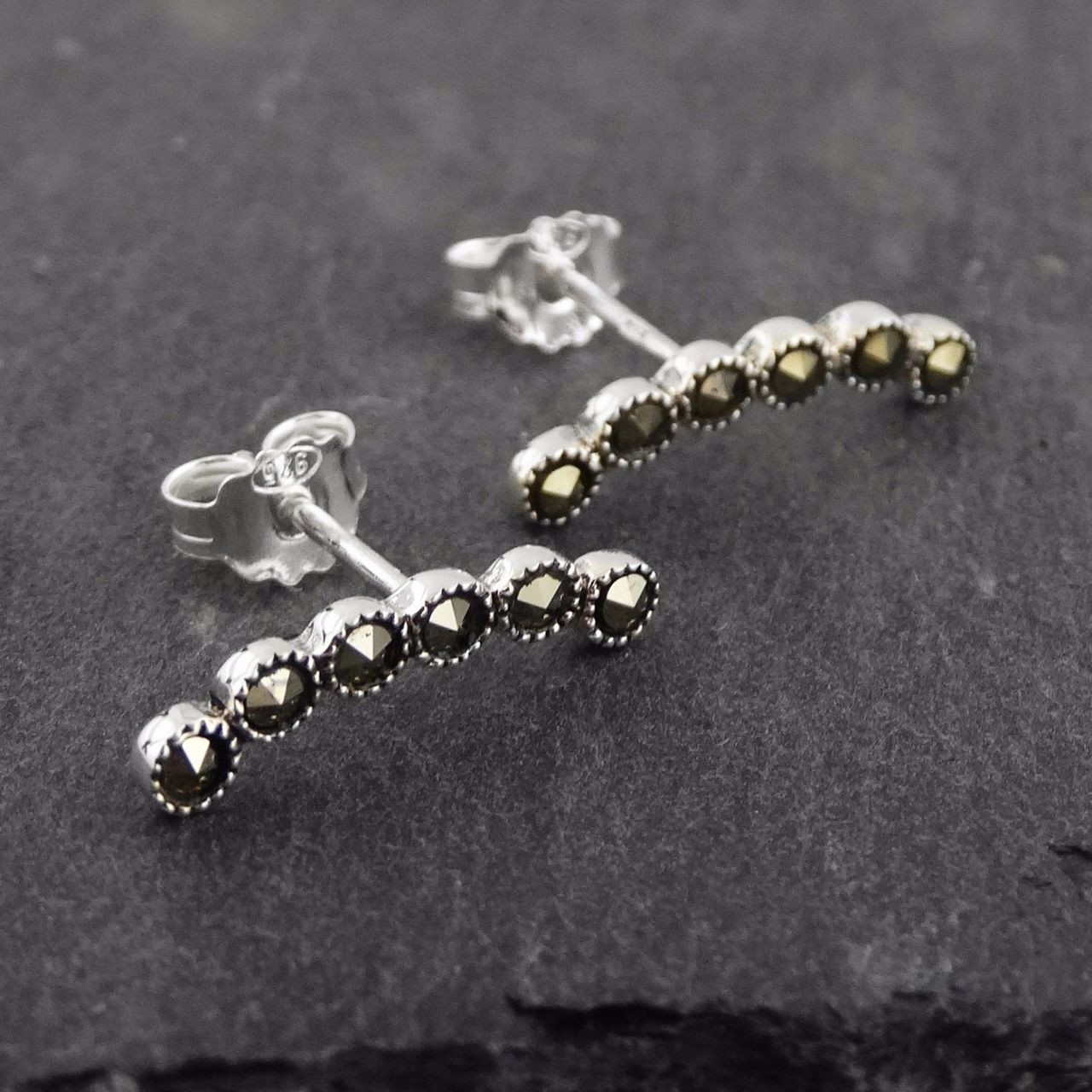Sterling Marcasite Curved Ear Climber Earrings Silver Marcasite Curved Ear Climber Earrings Silver Ear Climber Earrings Philippines Ear Climber Earrings Shop wedding rings Ear Climber Earrings