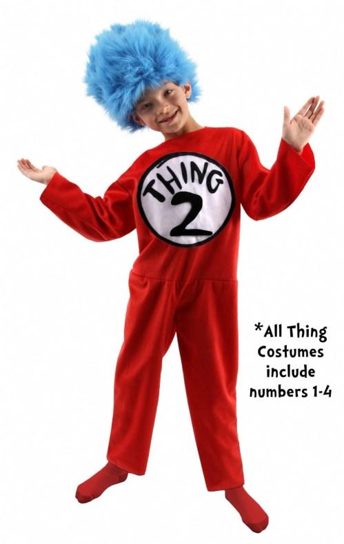 Medium Of Thing 1 And Thing 2 Costume