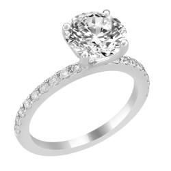Splendent Bead Set Diamond Side Accent Classicnoura Style G Engagement Ring Bead Set Diamond Side Accent Wedding Ring Vs Engagement Ring Hand Wedding Ring Or Engagement Ring On G Engagement Ring