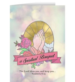 Showy Spiritual Bouquet Greeting Cards Catholic Greeting Cards Catholic Cards Monastery Catholic Cards Australia