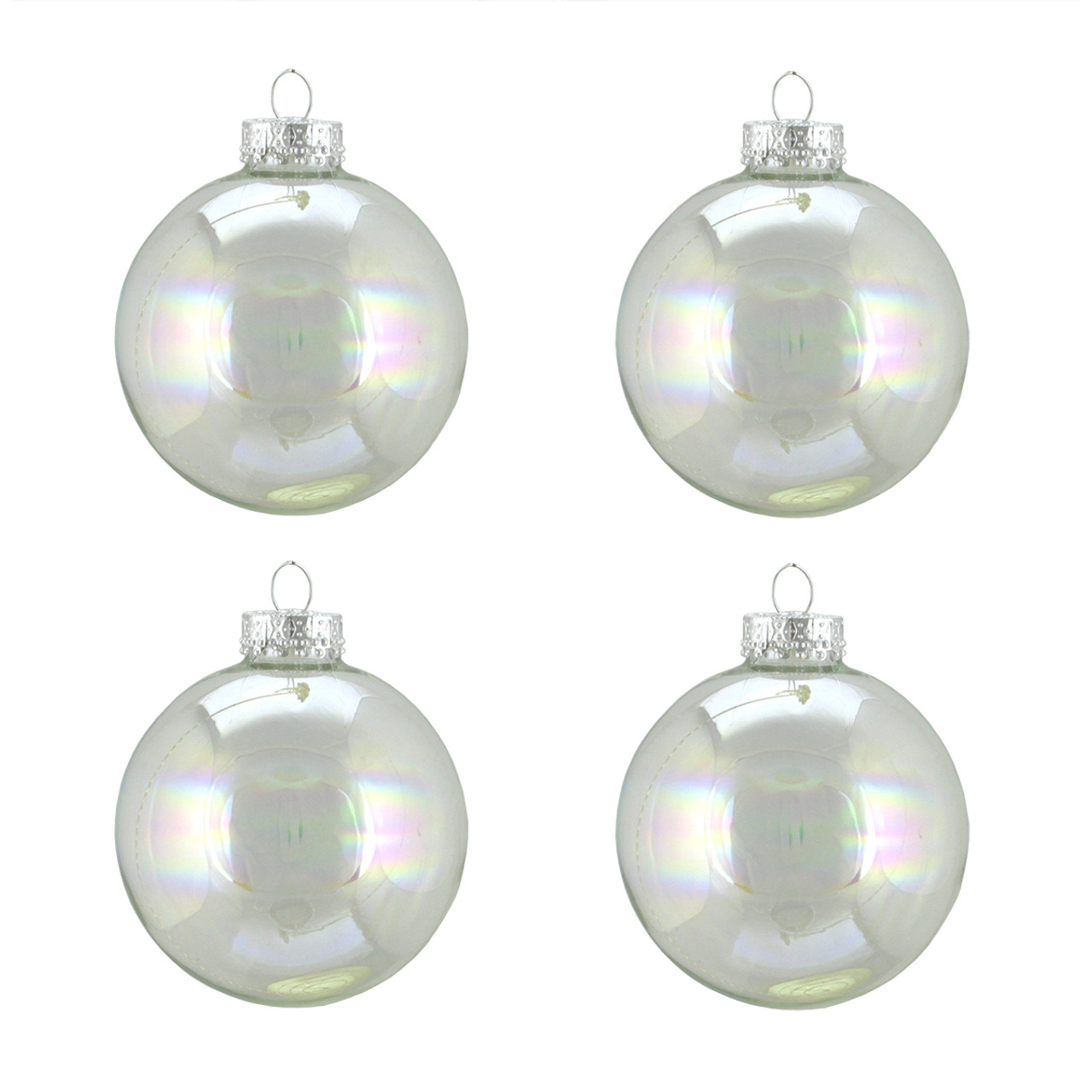 Picturesque Clear Iridescent Glass Ball Ornaments Clear Iridescent Glass Ball Ornaments Clear Ornaments Wholesale Ve On Craftschrisorbrchrml decor Clear Christmas Ornaments