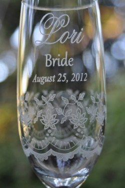 Flossy Lace Art Engraved All Around This Tall Fine Rimmed Champagne Flute Lace Wedding Champagne Flutes Bride Groom Wedding Champagne Flutes Copa Ring Wedding Champagne Flutes Nautical Wedding