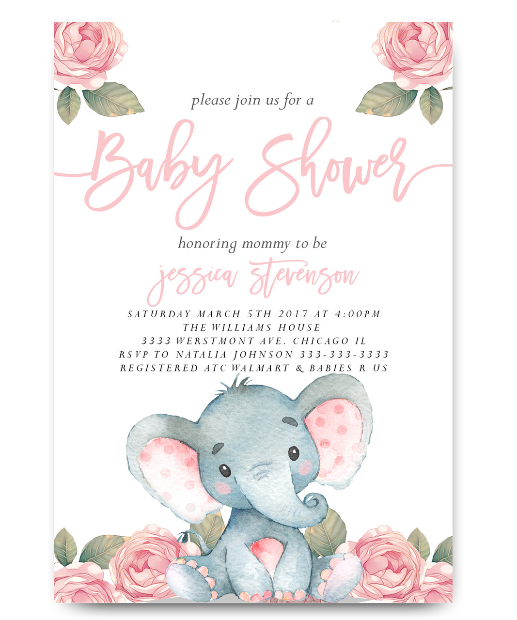 Staggering Elephant Baby Shower Vintage Elephant Elephant Baby Shower Watercolor Flowers Elephant Baby Shower Invitations Free Elephant Baby Shower Invitations Online invitations Elephant Baby Shower Invitations