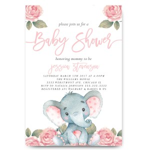 Staggering Elephant Baby Shower Vintage Elephant Elephant Baby Shower Watercolor Flowers Elephant Baby Shower Invitations Free Elephant Baby Shower Invitations Online