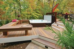 Small Of Hot Tub Deck