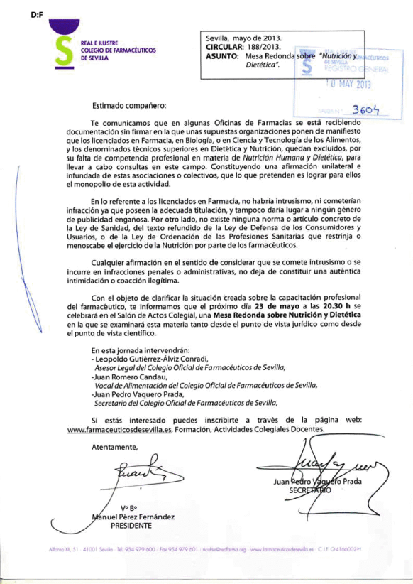 Carta farmacéuticos