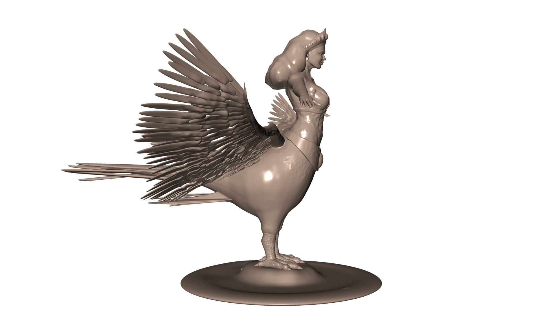 Fullsize Of Bird Girl Statue