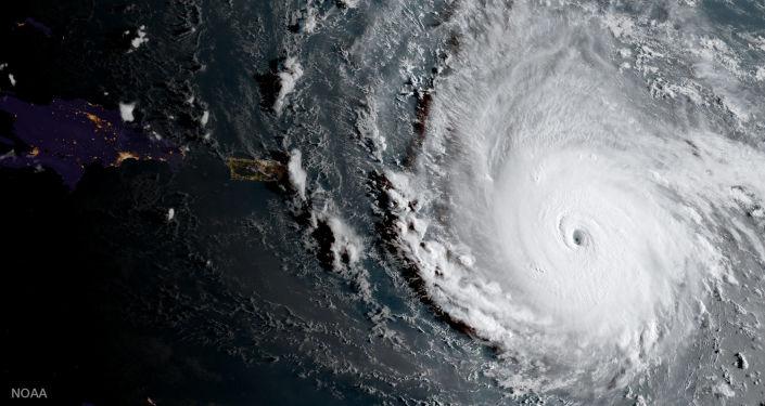 Imagem da vista do furacão Irma do espaço