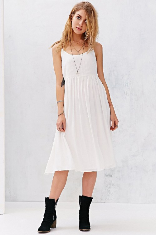 Medium Of White Flowy Dress