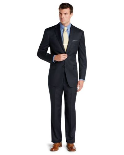 Jos. a. bank Signature Gold Tailored Fit 2-button Wool Suit in Blue for Men | Lyst