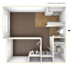 Small Of One Bedroom Apartment Floor Plans