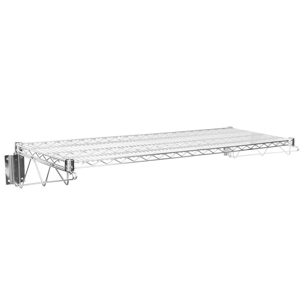 Fullsize Of Wall Mounted Wire Shelving