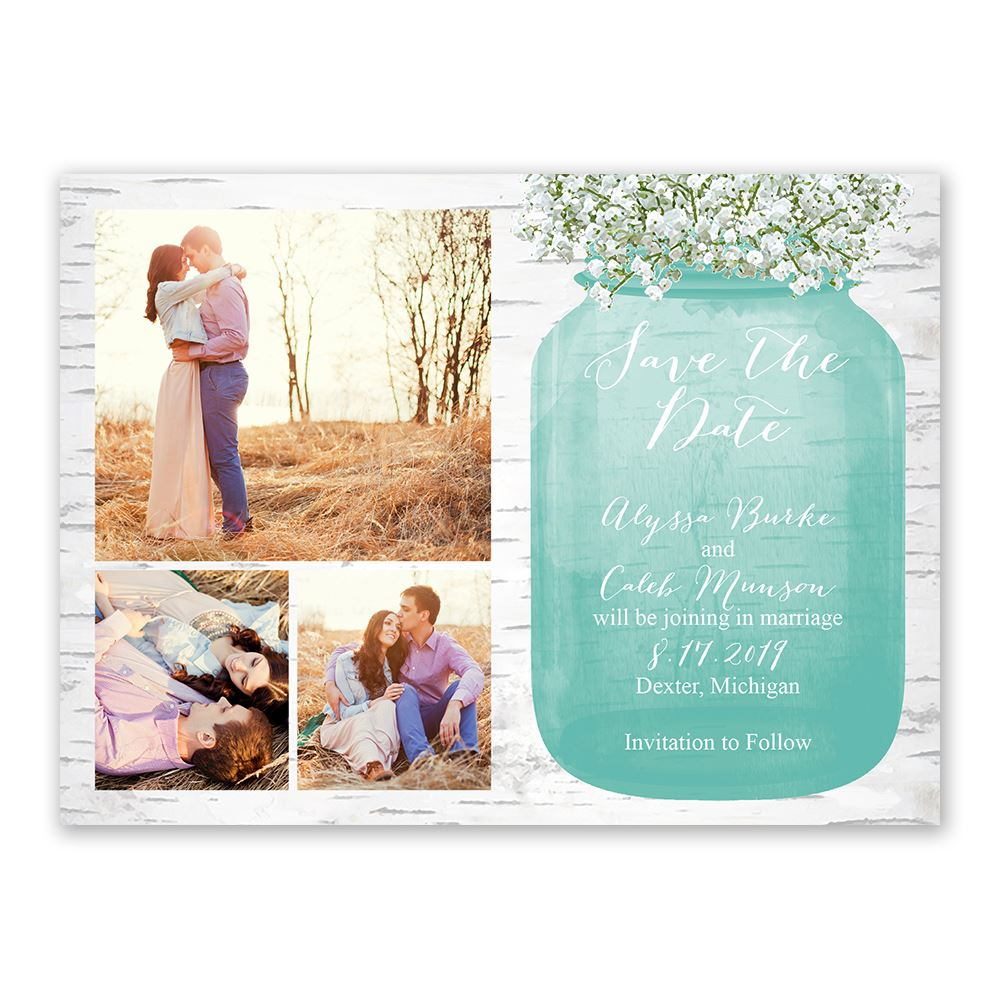 Decent Breath Save Date Card Babys Breath Save Date Card Bridal Bargains Inexpensive Save Dates Inexpensive Save Date Cards inspiration Cheap Save The Dates