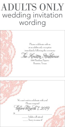 Deluxe Dawn A Adults Only Wedding Invitation Wording Main 032916 Wedding Reception Invitation Wording Samples Wedding Reception Invitation Wording Ideas