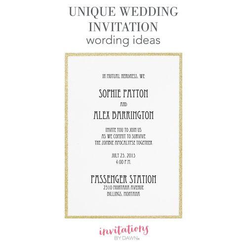 Medium Crop Of Fun Wedding Invitations