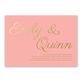 gold wedding invitations gold wedding invitations Gold Wedding Invitations Simply Devoted Foil Invitation