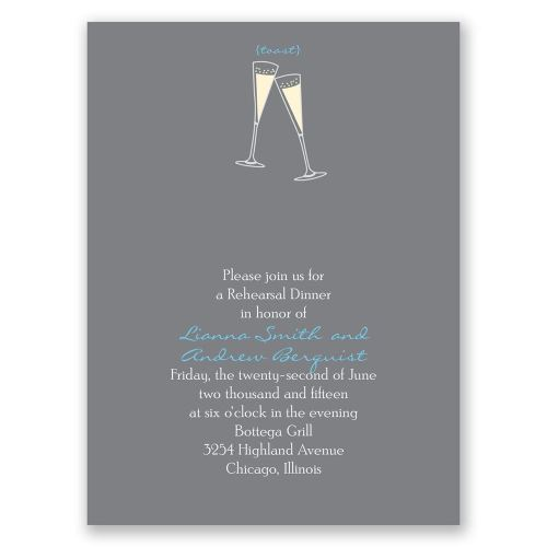 Classy Toasting Grey Petite Rehearsal Dinner Invitation Toasting Petite Rehearsal Dinner Invitation Invitations By Dawn Rehearsal Dinner Toast Protocol Rehearsal Dinner Toasts Groom
