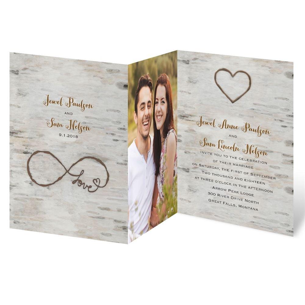 photo wedding invitations wedding invitations Love for Infinity Z Fold Invitation