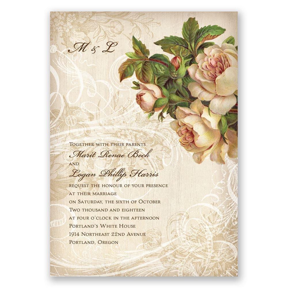 wedding invitations wedding card invitation Boho Flowers Invitation