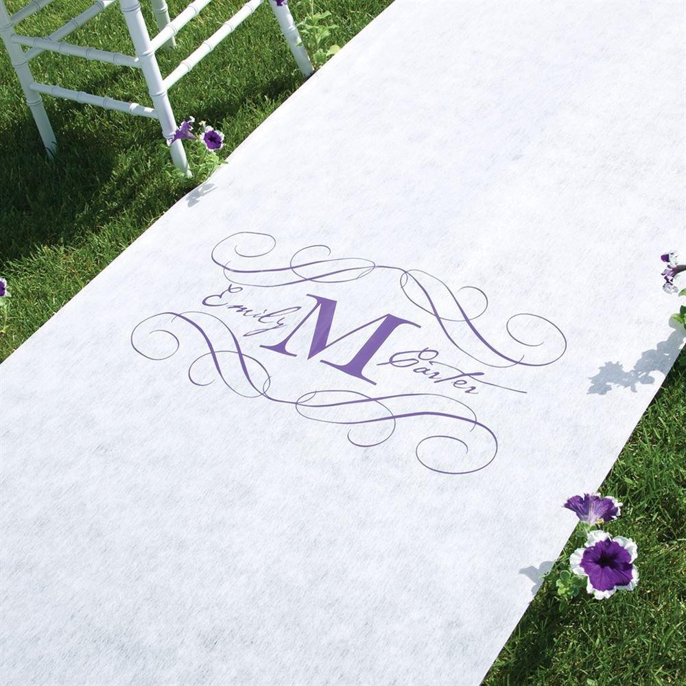 wedding aisle runners wedding runners Monogram Aisle Runner