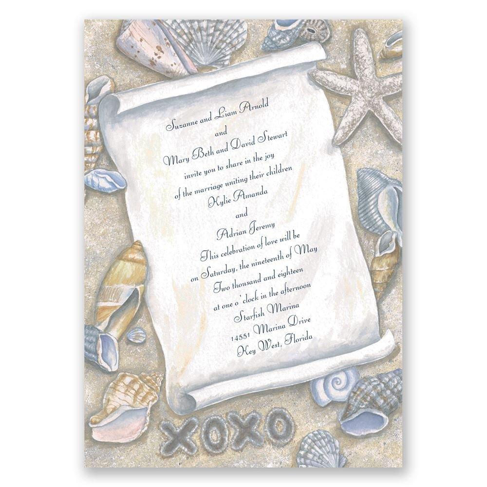 destination wedding invitations destination wedding invitations Destination Wedding Invitations Gift From The Sea Invitation