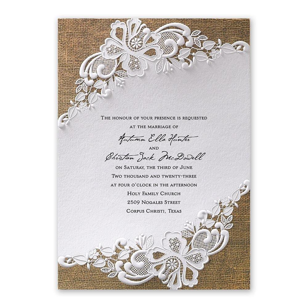 wedding invitations wedding card invitation Lacy Dream Invitation