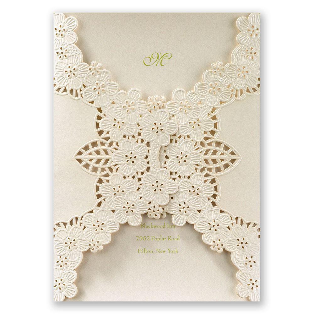laser cut wedding invitations laser cut wedding invitations Laser Cut Wedding Invitations Abundant Beauty Laser Cut Invitation