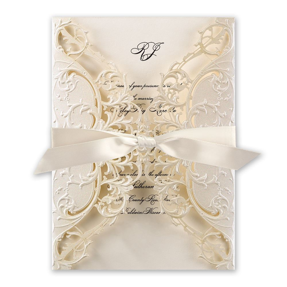 elegant wedding invitations classy wedding invitations Elegant Wedding Invitations Royal Details Laser Cut Invitation