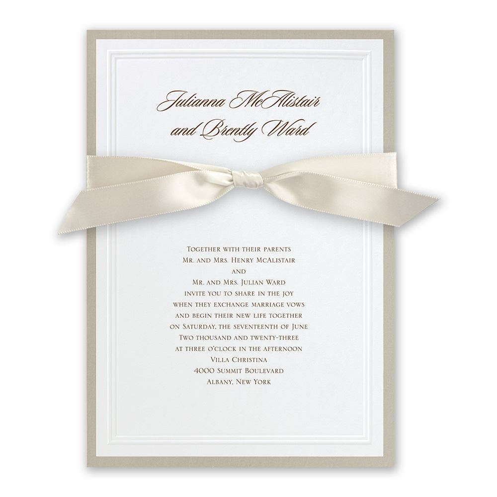 wedding invitations wedding card invitation Sophisticated Border Invitation