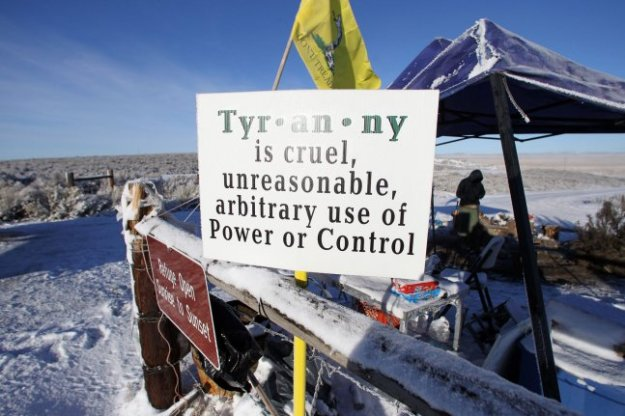 An activists pulls sentry duty at the Malheur National Wildlife Reserve on January 15, 2016, in Burns, Ore. Leader Ammon Bundy and several other protesters took over the refuge on Jan. 2 after a rally to support two imprisoned local ranchers. File Photo by Jim Bryant/UPI