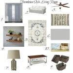 Farmhouse Style Living Room Mood Board