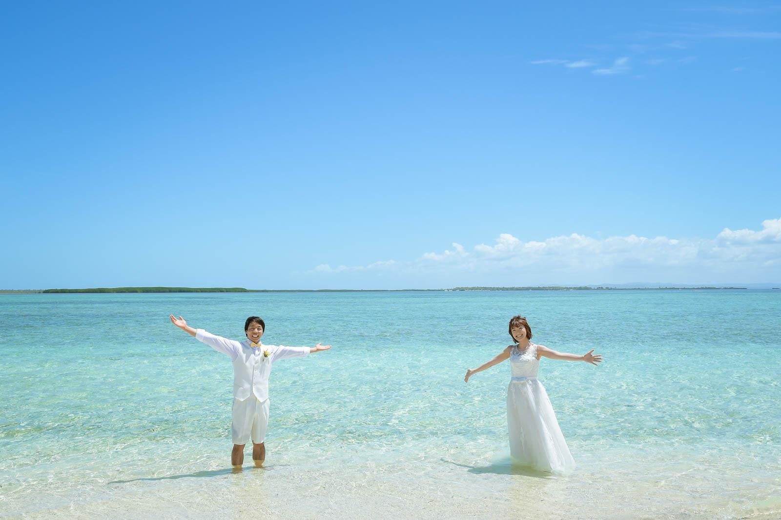 ソルパ島で結婚写真
