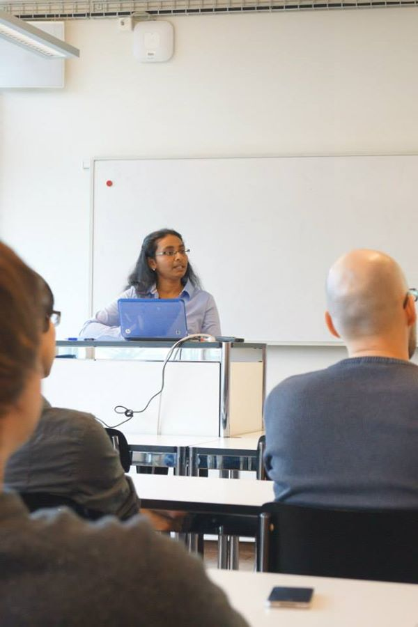 Dr. Sandhya during her PhD Presentation