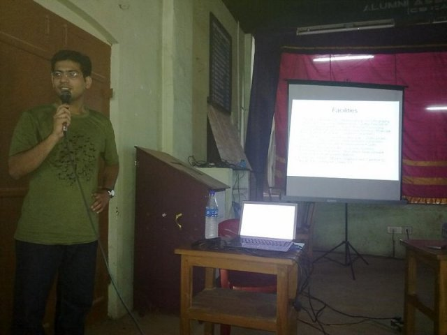 Githin Delivering a Talk at CEC