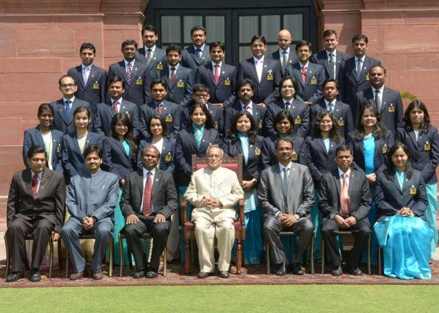 Surekh Reghunathen's Batch With the Hon. President of India