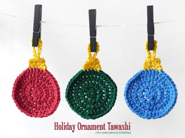 Free Crochet Pattern: Holiday Ornament Tawashi