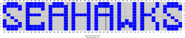 Seashawks Lettering Chart