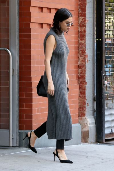 Selena Gomez Style and Fashion - Leaving Her Apartment in NYC 10/22/2017