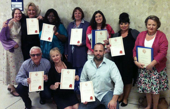 Group of Celebrants trained by the Professional Fellowship of Celebrants