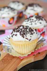 Small Batch Vanilla Cupcakes - Celebrating Sweets