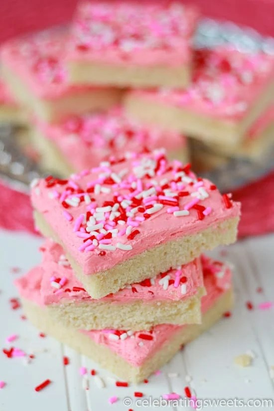 Sugar Cookie Bars ~ Celebrating Sweets