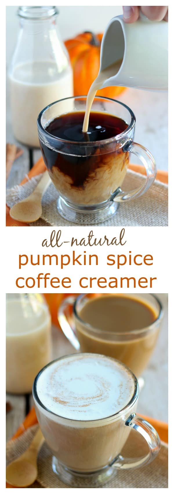 All-Natural Pumpkin Spice Creamer - Homemade pumpkin spice coffee ...
